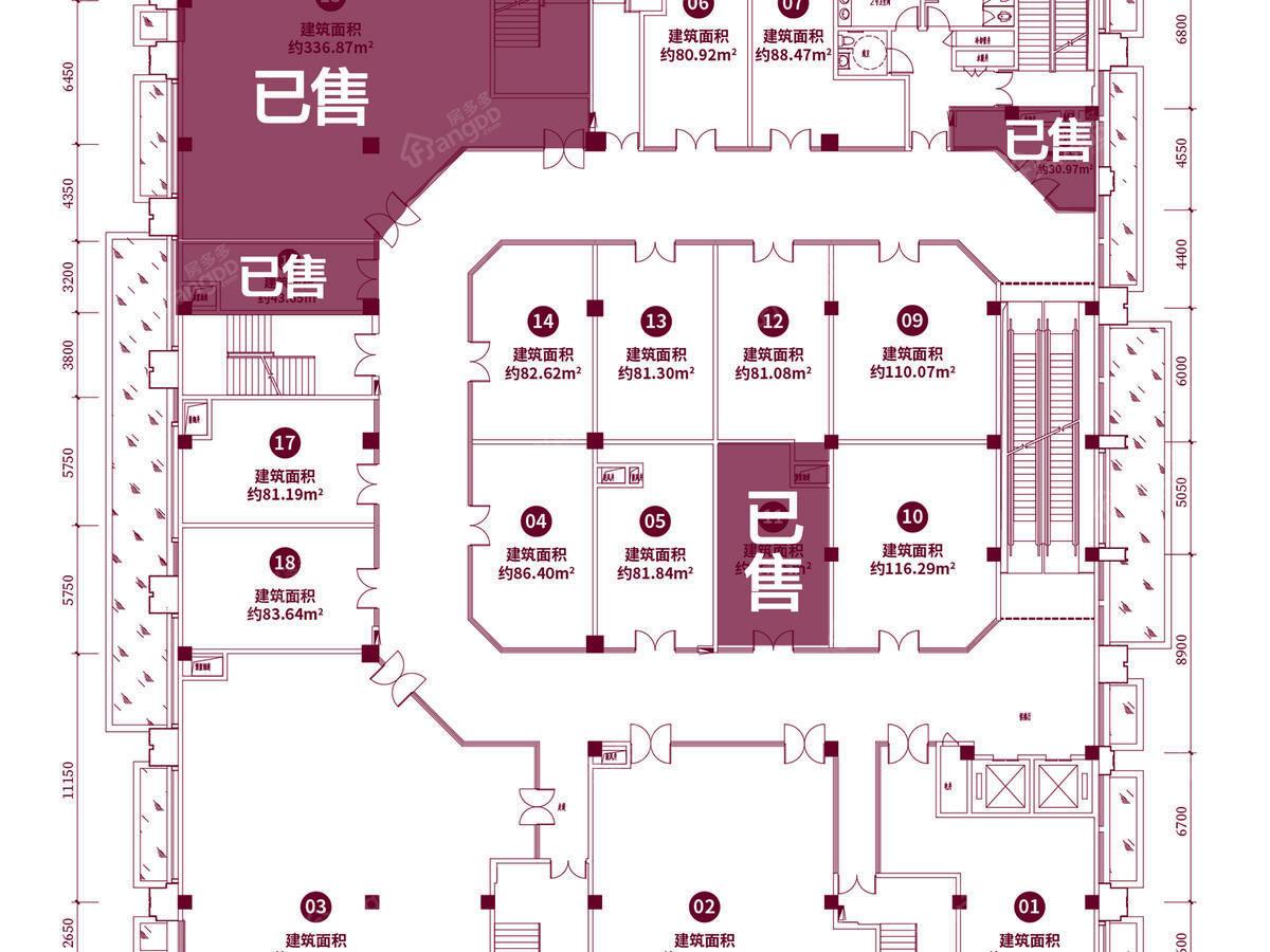 恒大翡翠华庭1室户型图