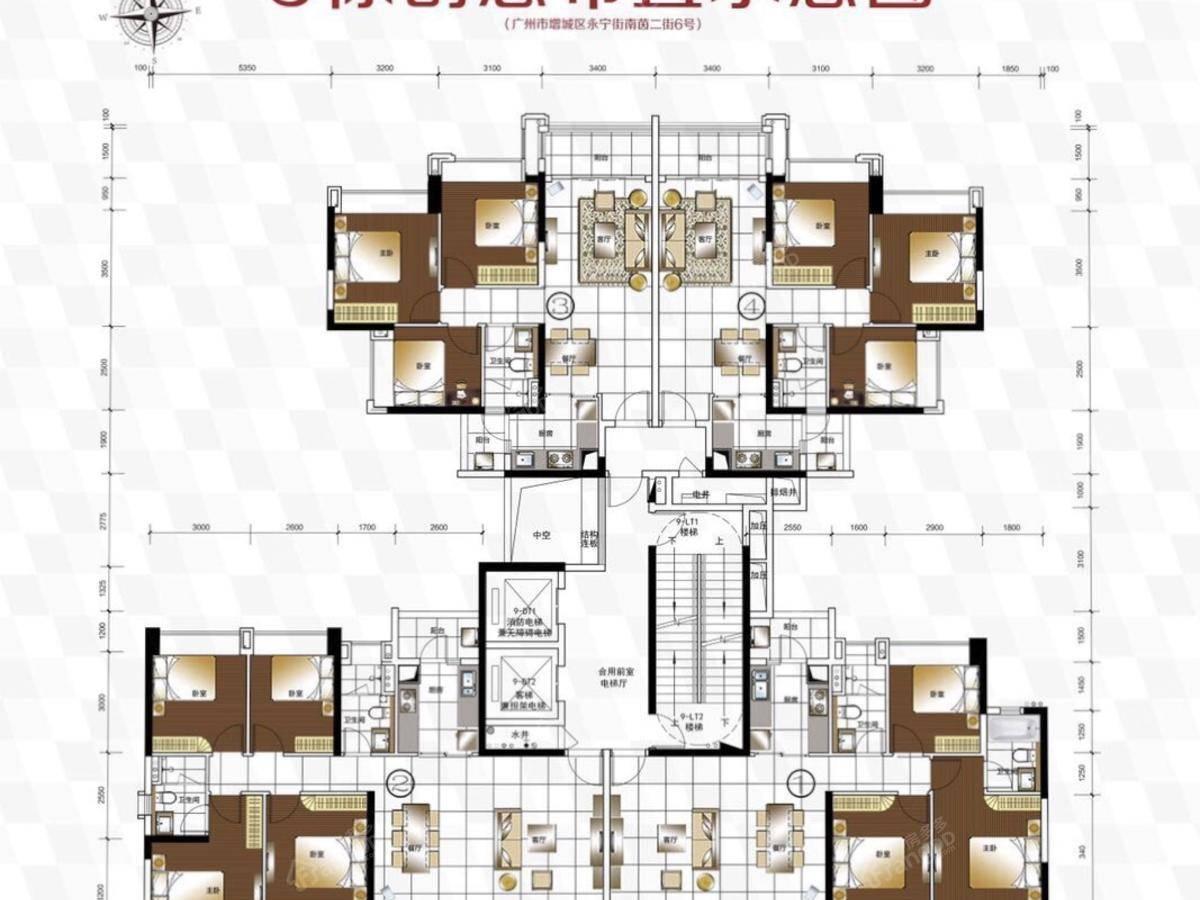 合景誉山国际3室2厅1卫户型图
