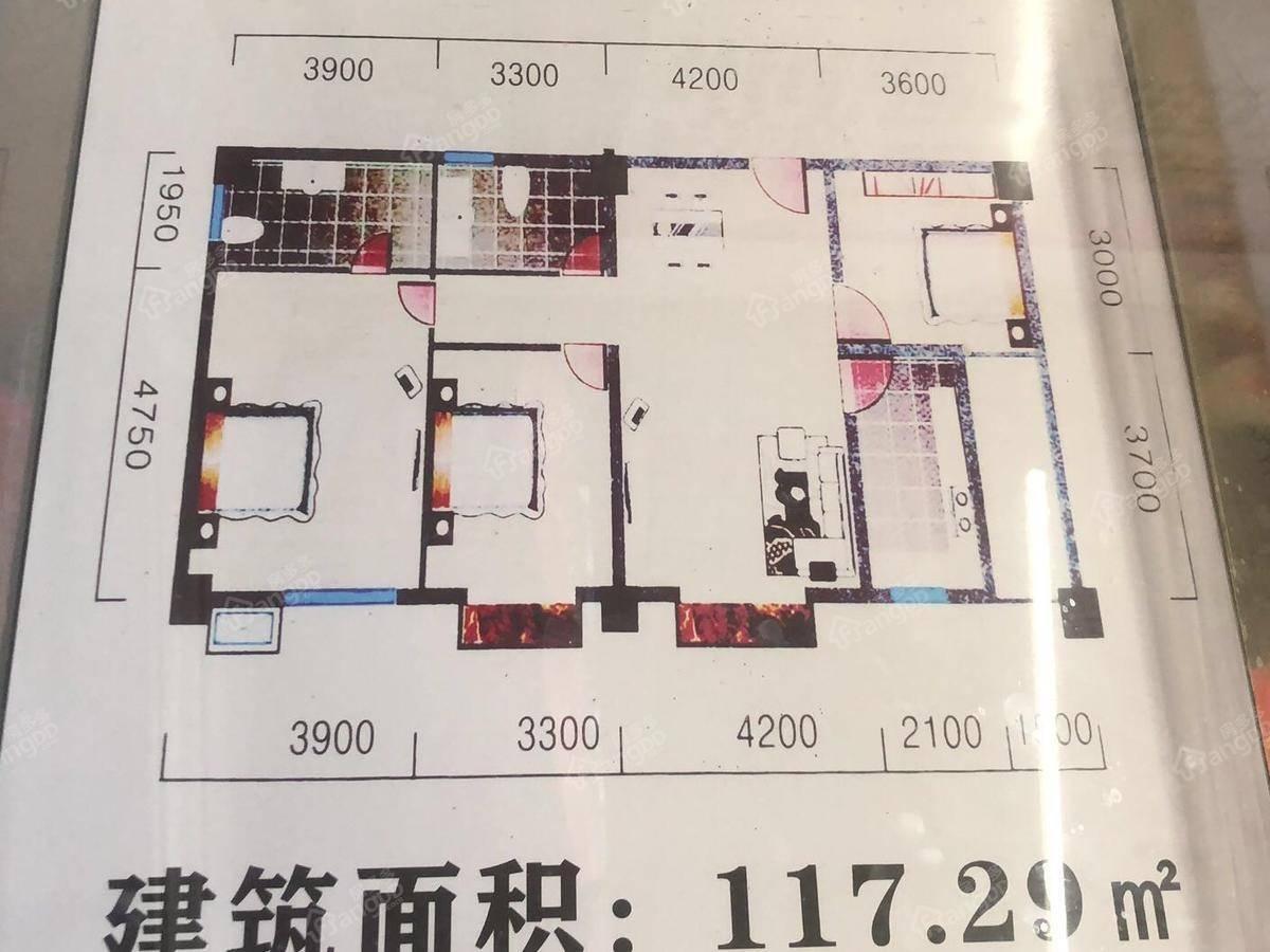 南江城市阳光3室2厅2卫户型图