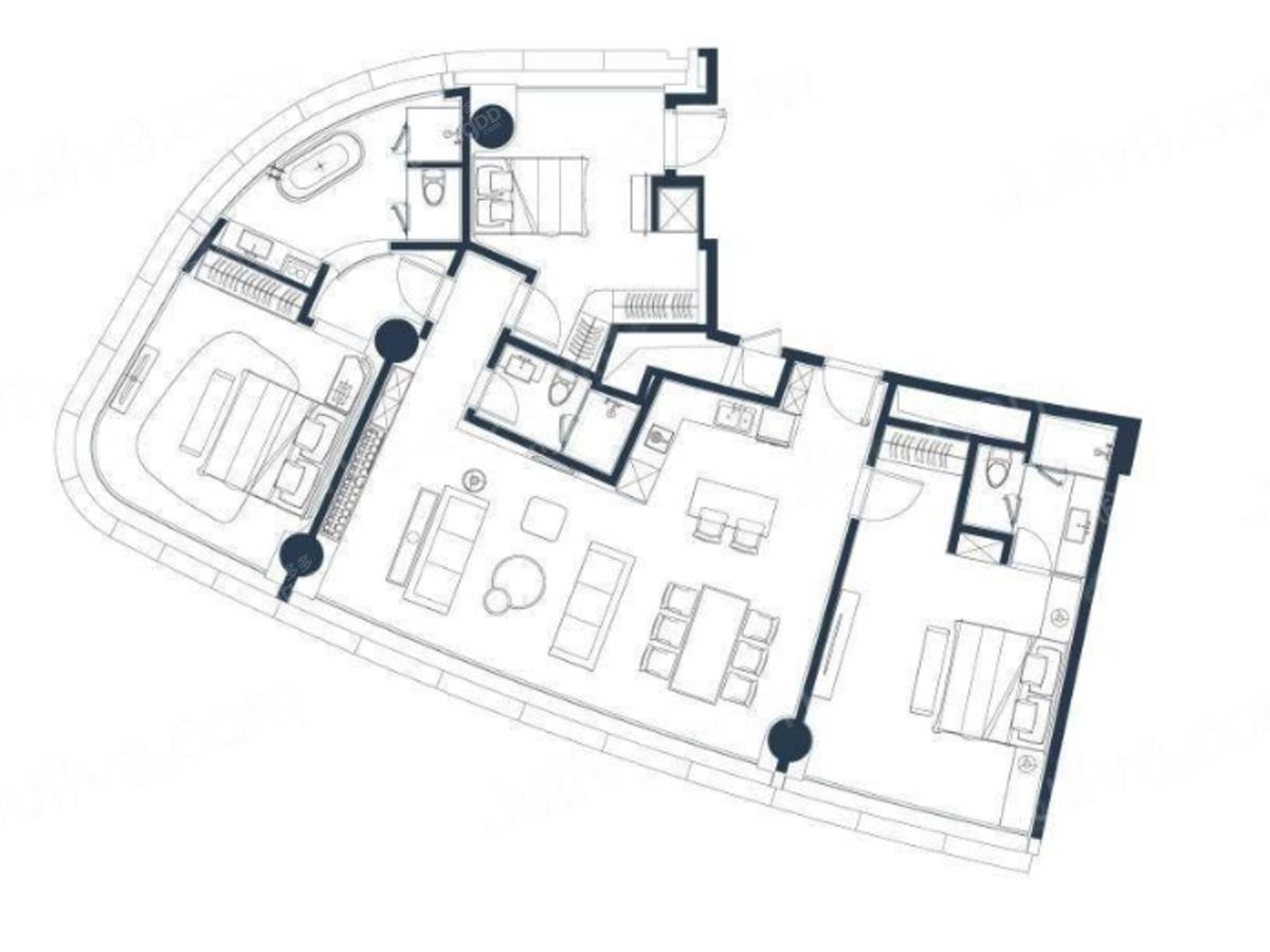 绿地云景3室2厅2卫户型图