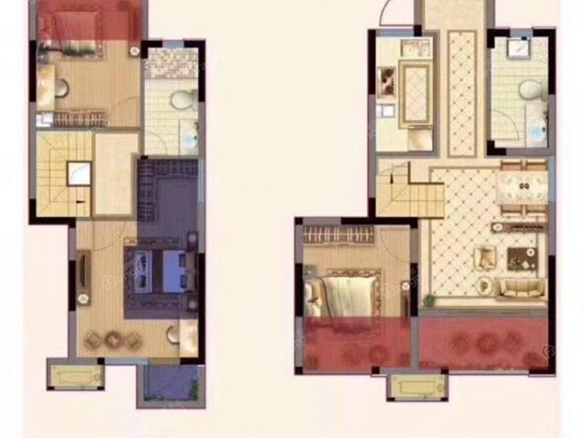弘阳上熙名苑3室2厅2卫户型图