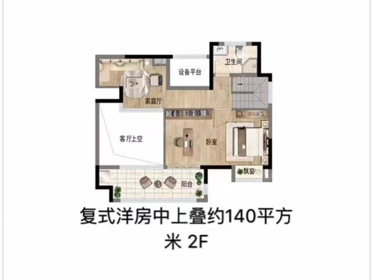 佳兆业湖心溪岸4室2厅2卫户型图
