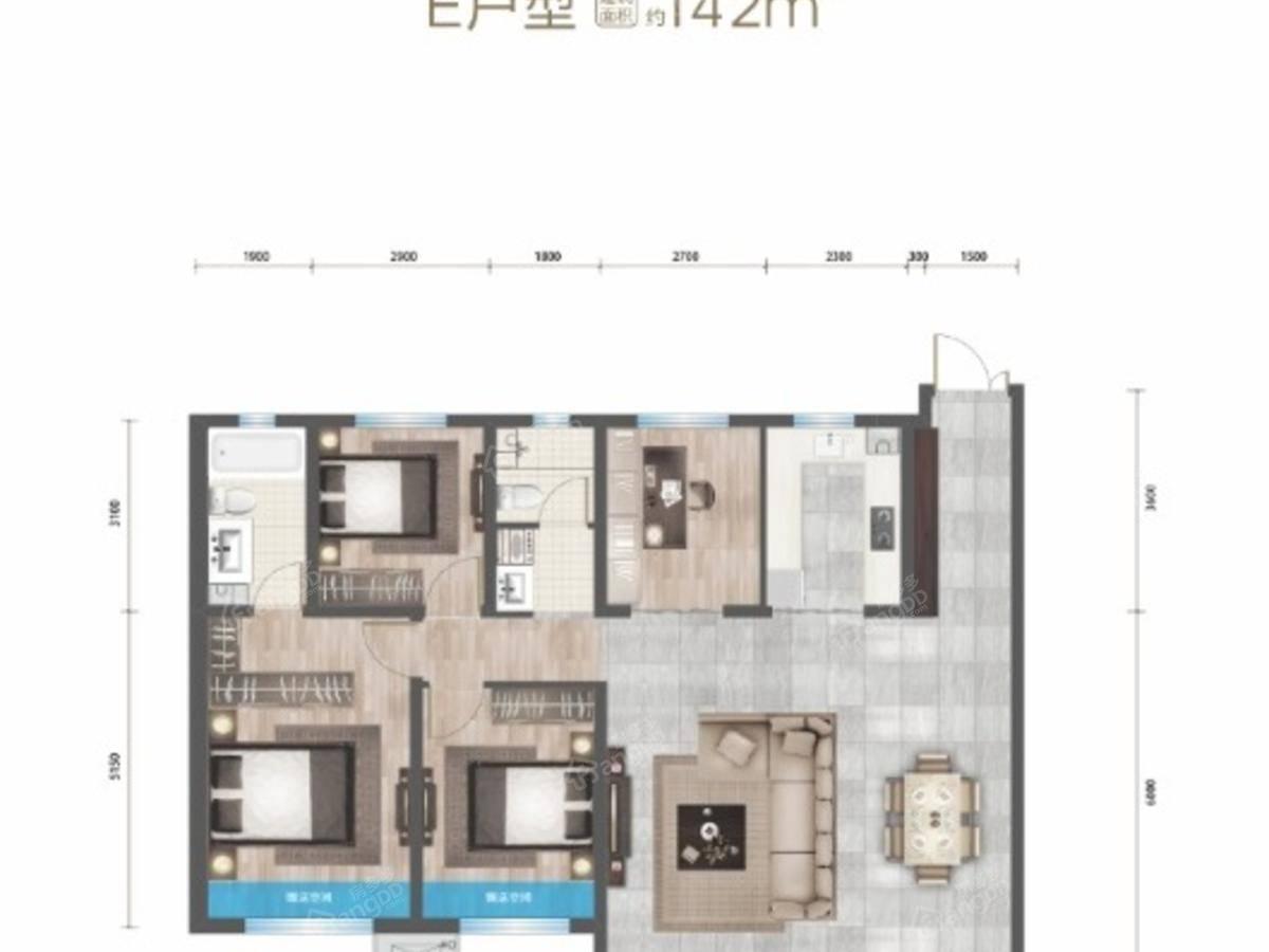 永泰城御景二期4室2厅2卫户型图