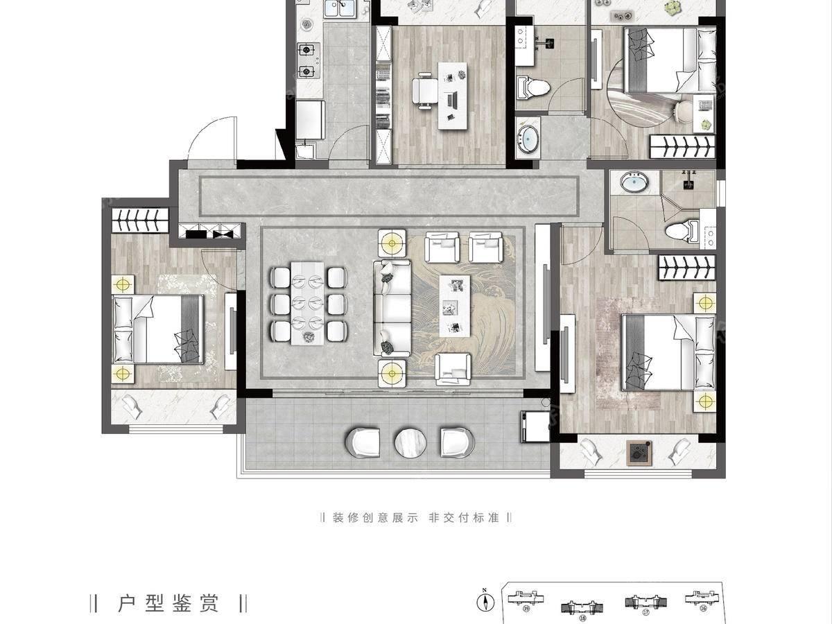 天境上辰4室2厅2卫户型图