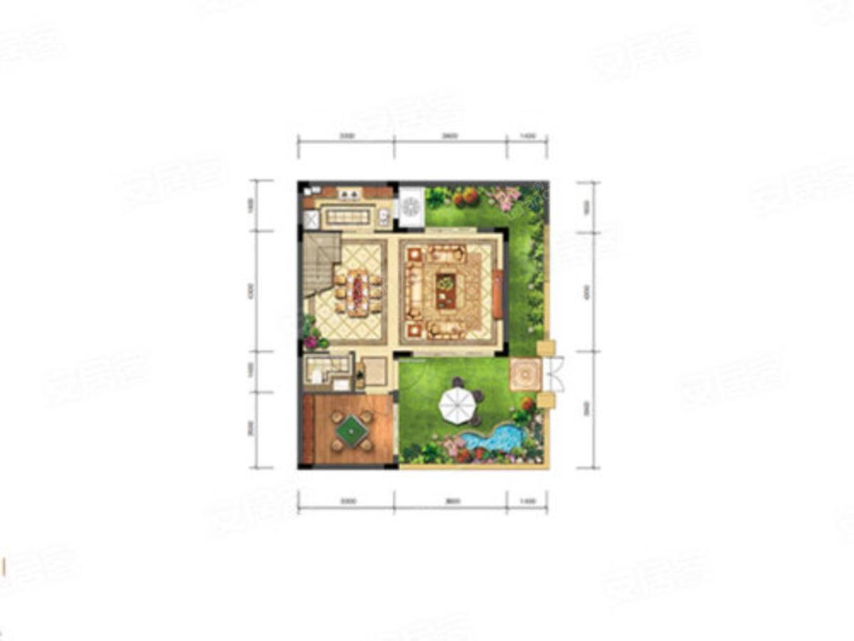 泰禾·青云小镇3室2厅3卫户型图