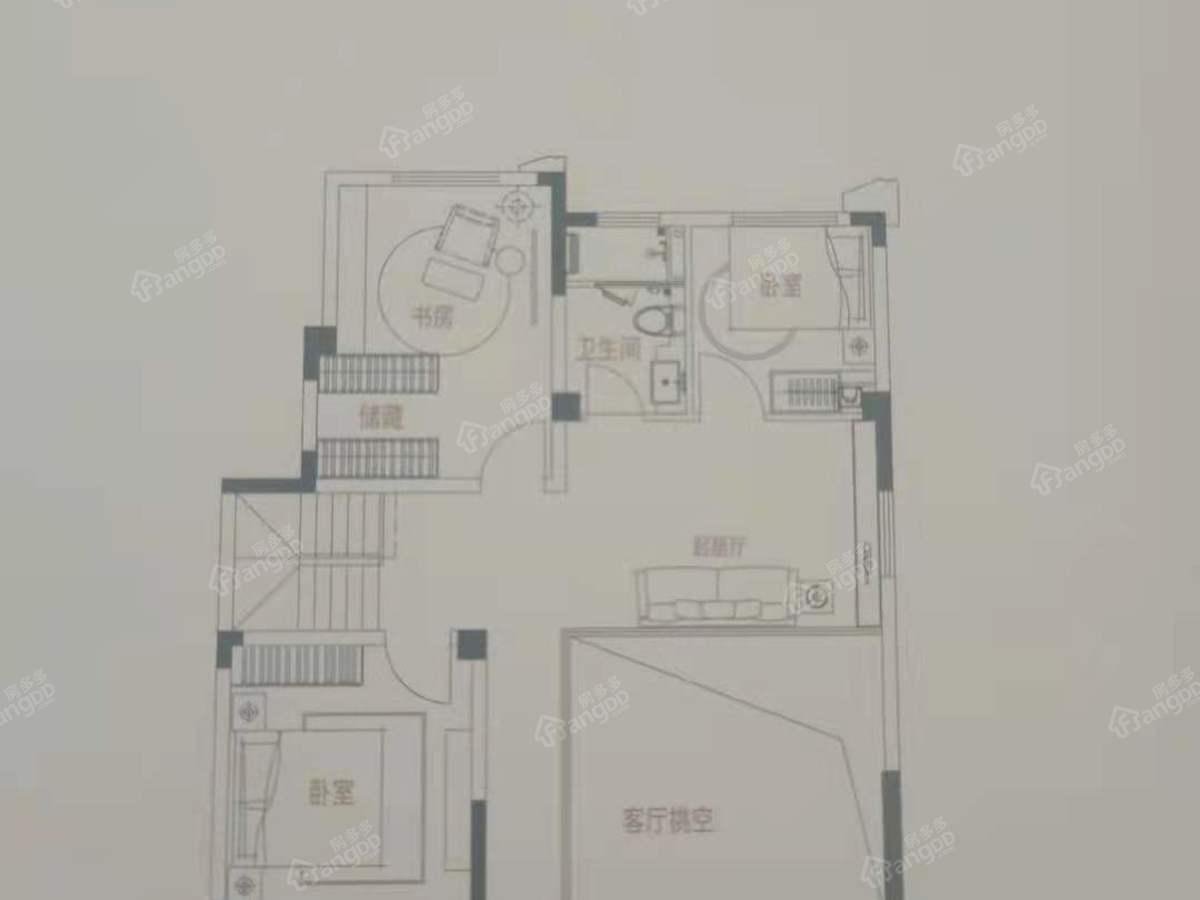 吉宝季景铭邸4室3厅2卫户型图