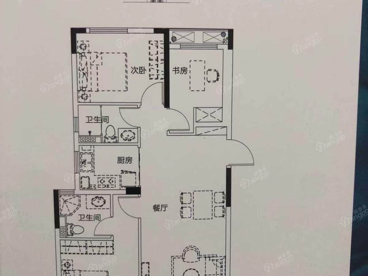 联发云璟3室2厅2卫户型图