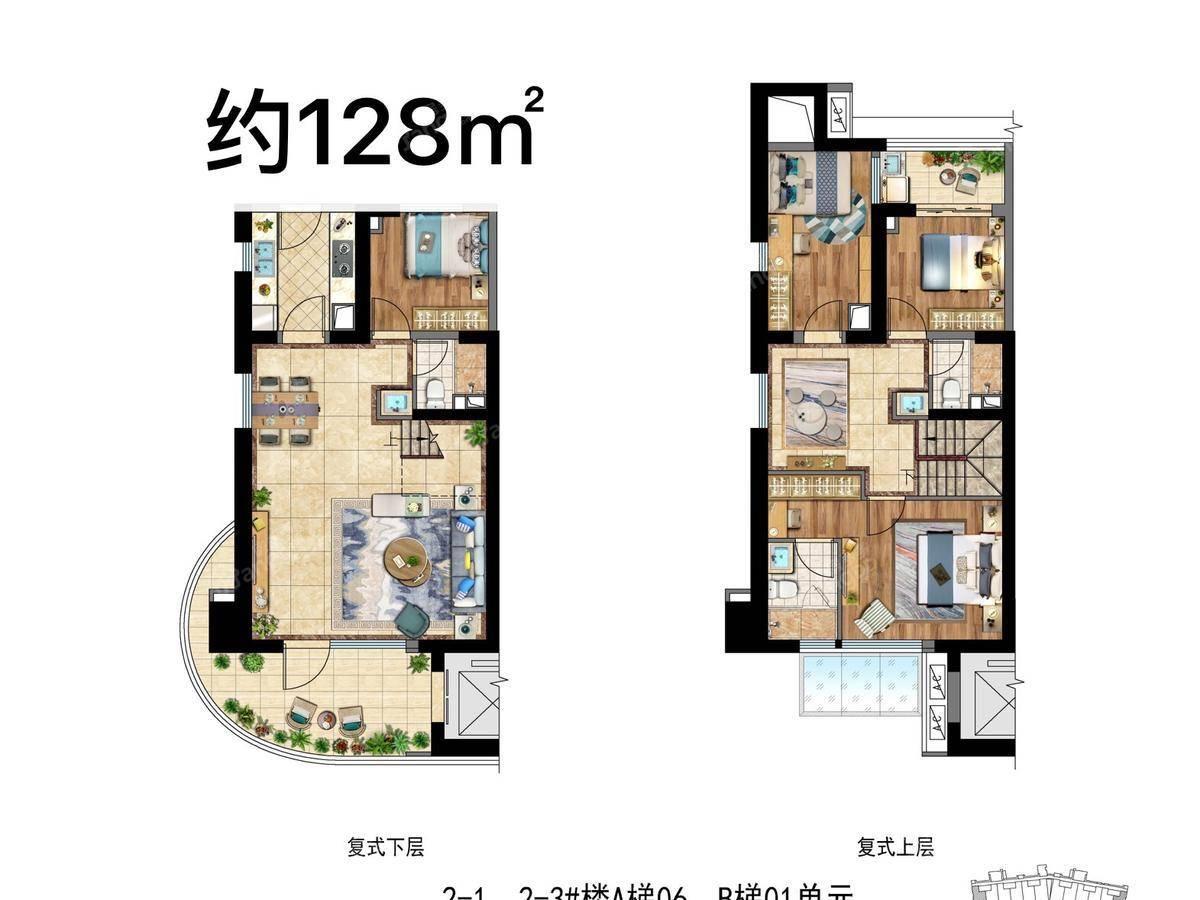 保利叁仟栋4室3厅3卫户型图