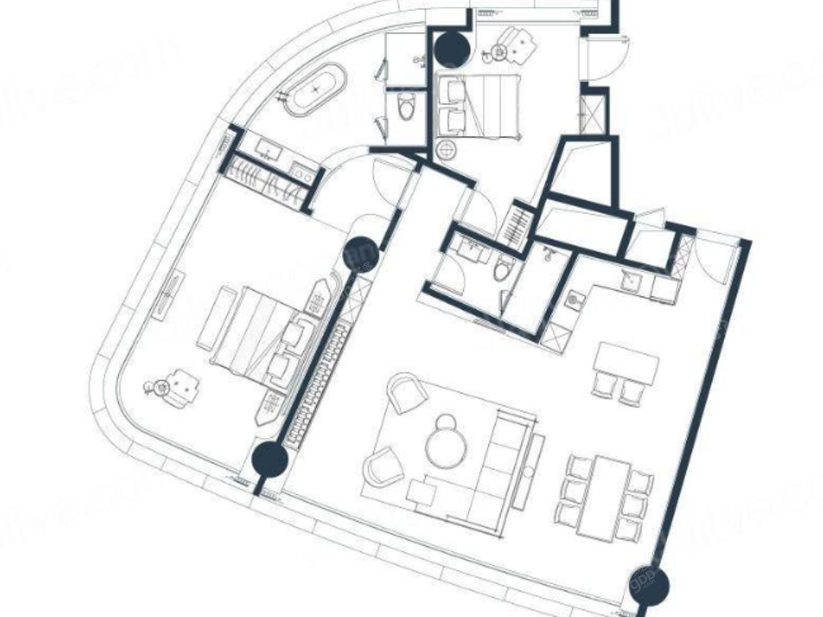 绿地云景2室2厅2卫户型图