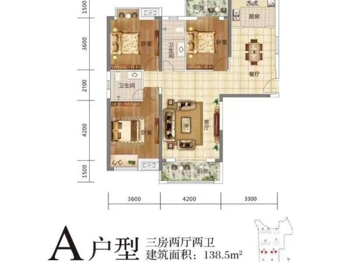 扬子馥园户型图_0