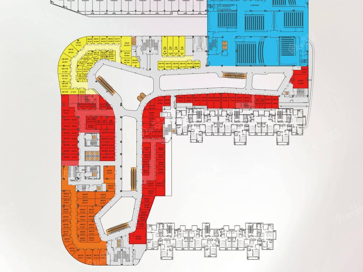 运河天地公园街区X-MALL1室户型图