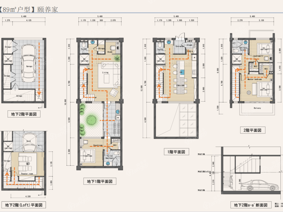 龙潭渡 云湖天境3室3厅3卫户型图
